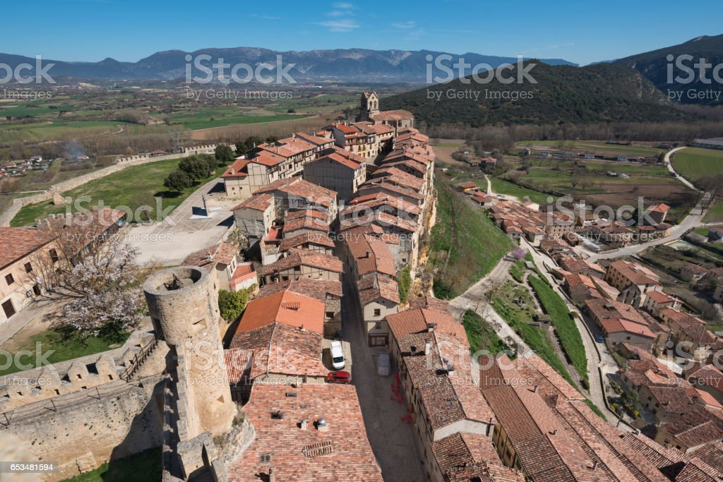 Frias medieval village in Burgos province, Castile and Leon, Spain. stock photo