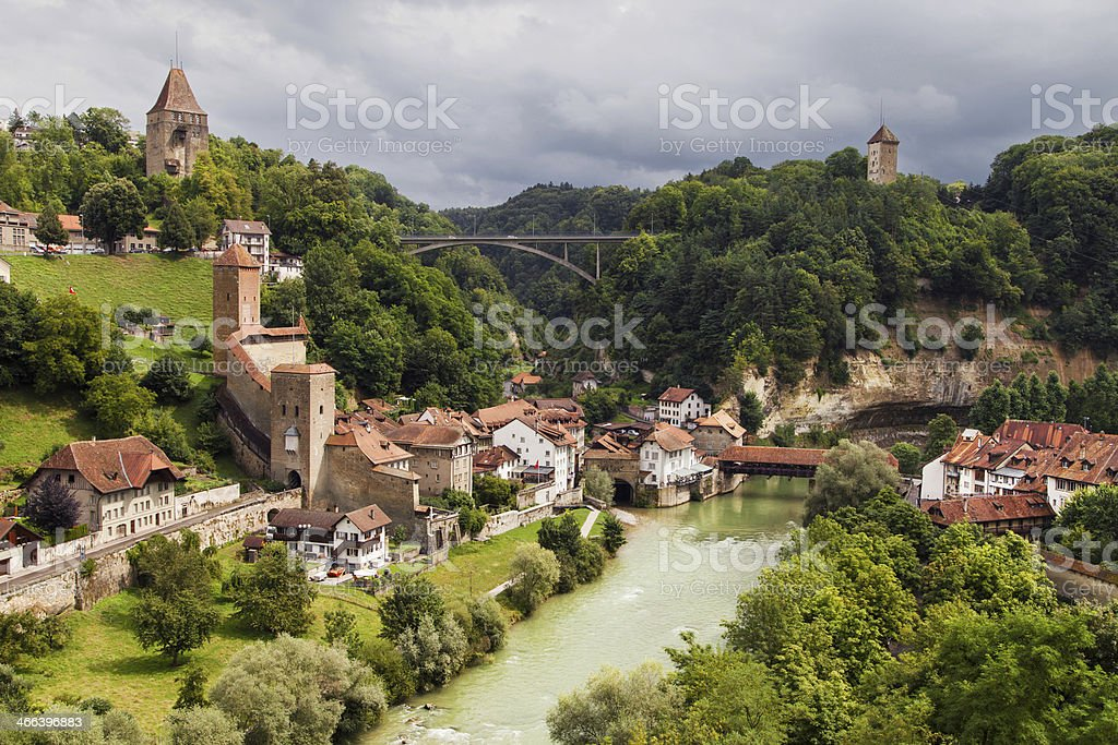 Fribourg Auge District stock photo