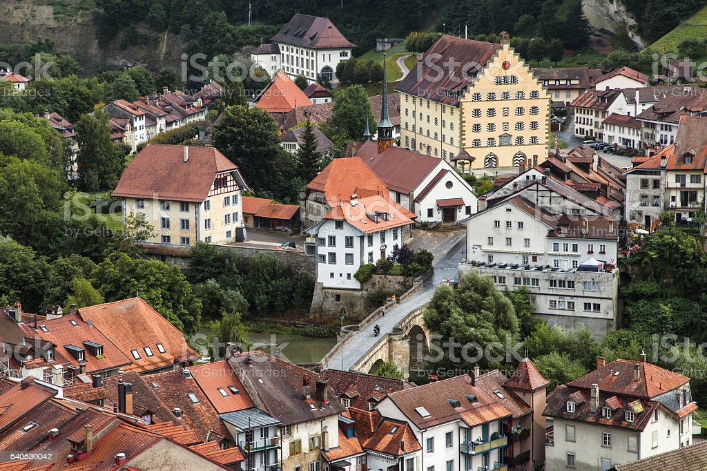 Fribourg Basse-Ville stock photo