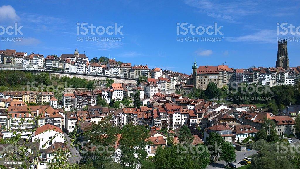 Fribourg Switzerland stock photo