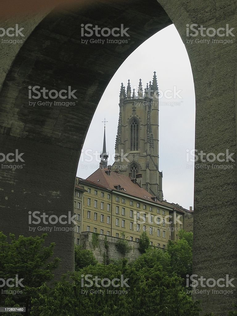 Friburg cathedral (Color) royalty-free stock photo