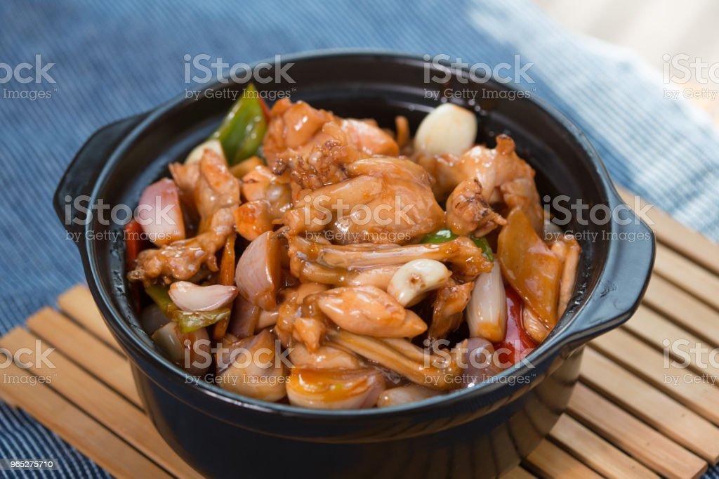 Fricassee chicken meat zbiór zdjęć royalty-free