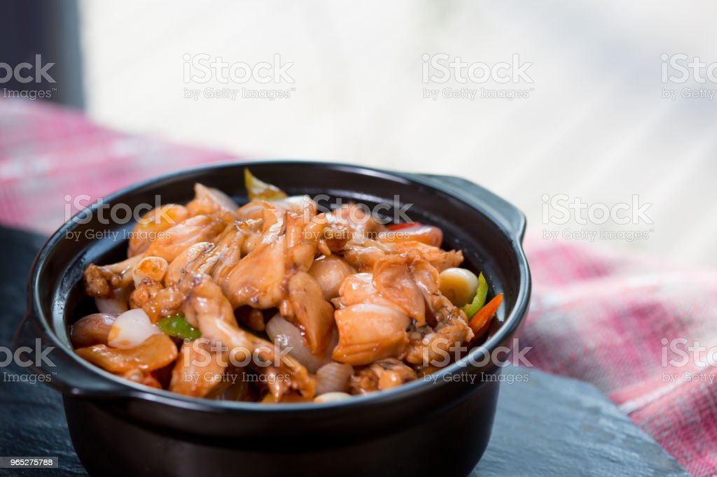 Fricassee chicken meat royalty-free stock photo
