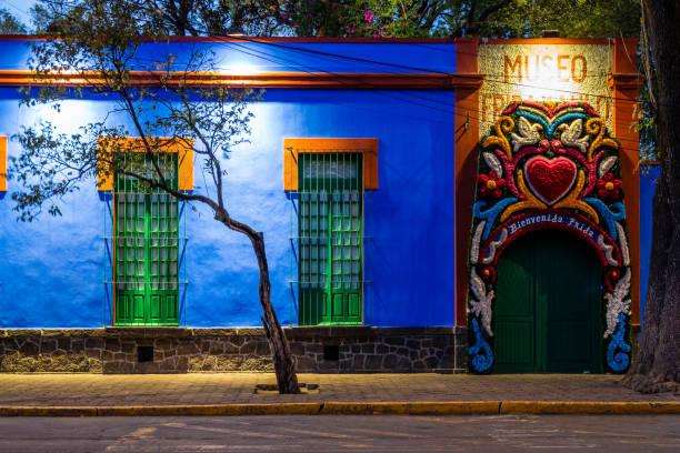 Frida Kahlo Museum aka Blue House (La Casa Azul) in Mexico City, Mexiko – Foto
