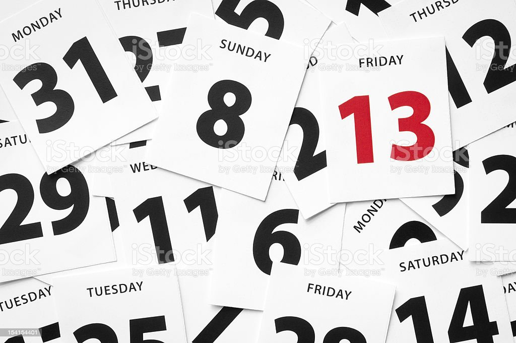 Friday 13th misfortune stock photo