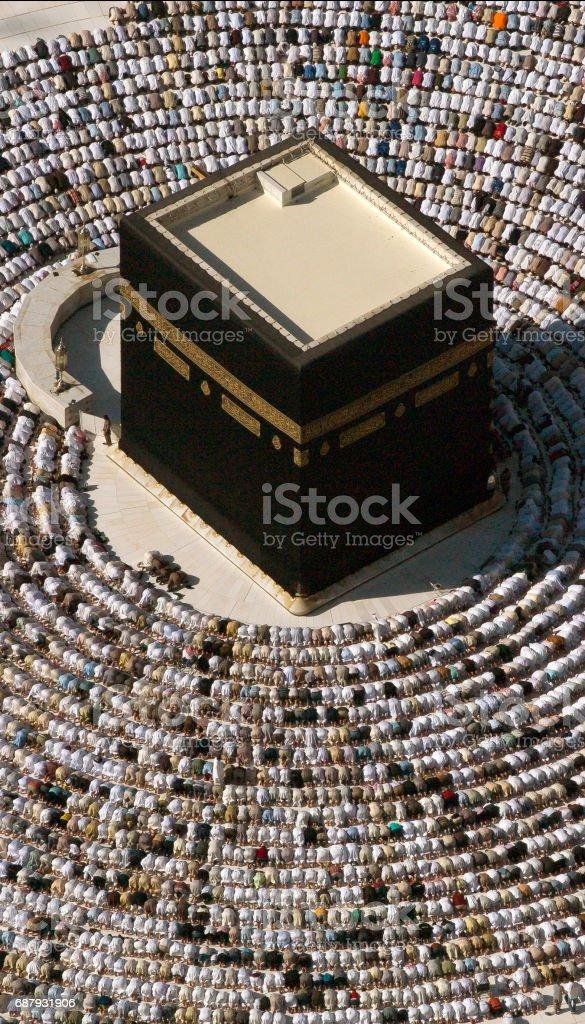 Friday at Kaaba stock photo