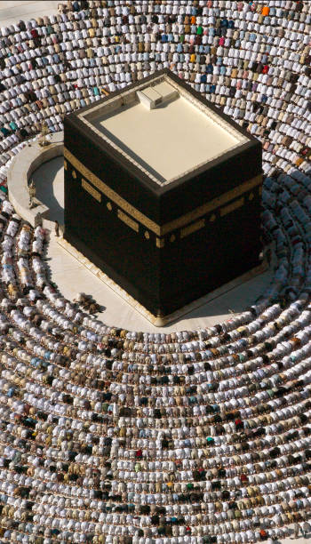 Friday at Kaaba stock photo