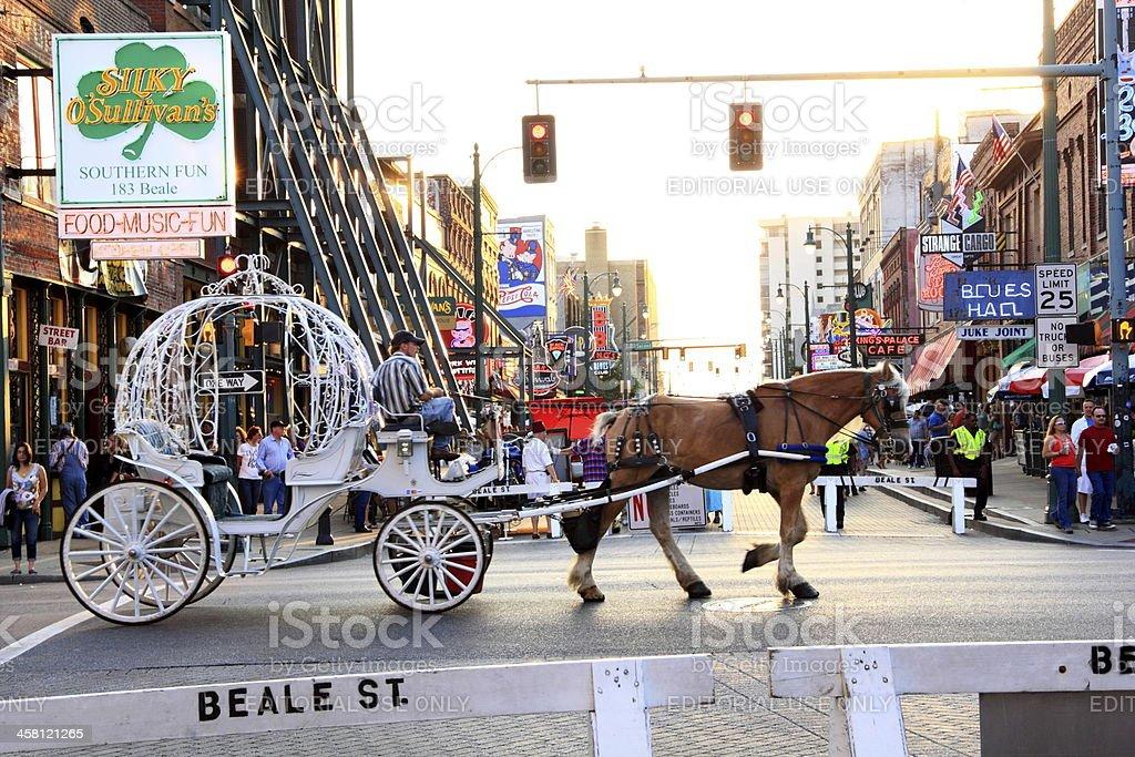 Friday Evening Sunset on Beale St., Memphis royalty-free stock photo