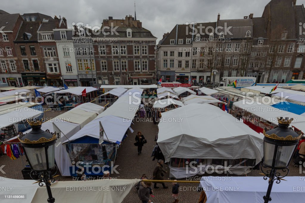 Over 400 sellers at the Friday Market in Maastricht, it is the...