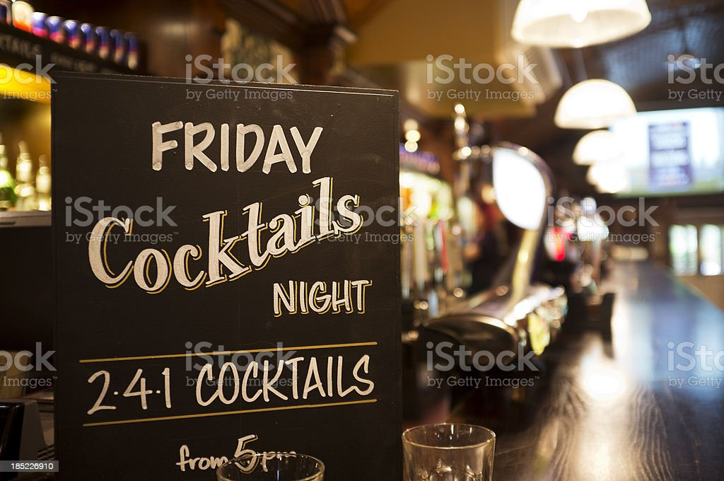 Friday night cocktail time stock photo