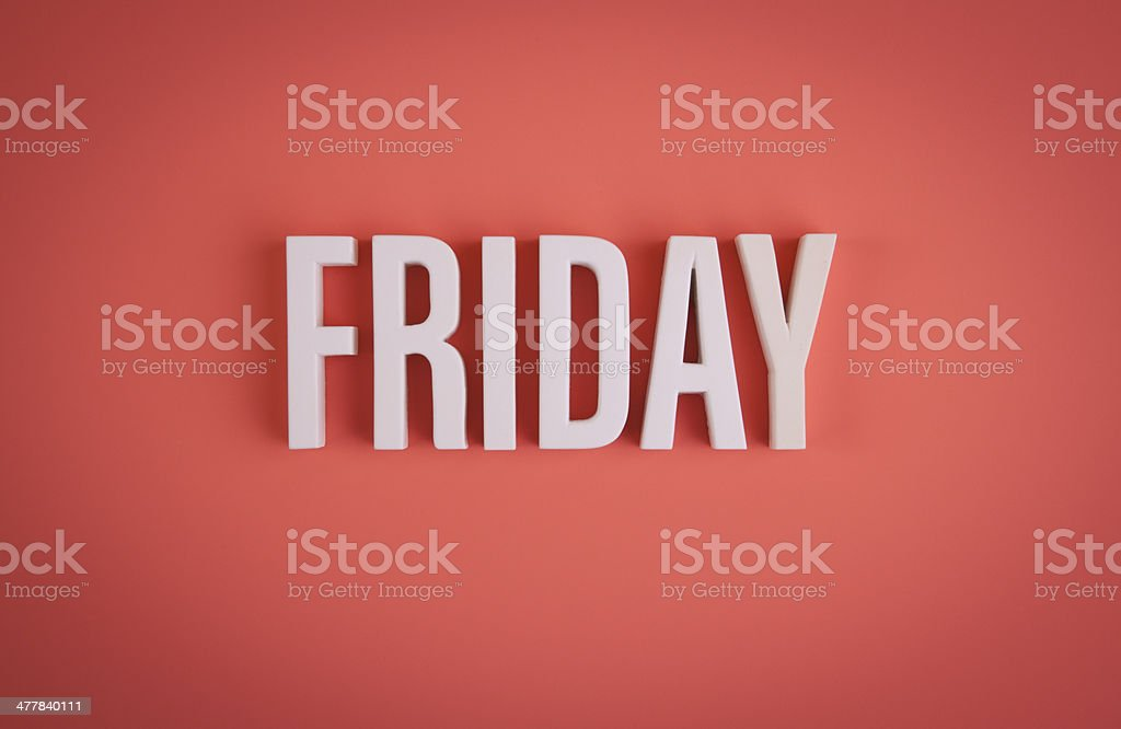 Friday sign lettering stock photo