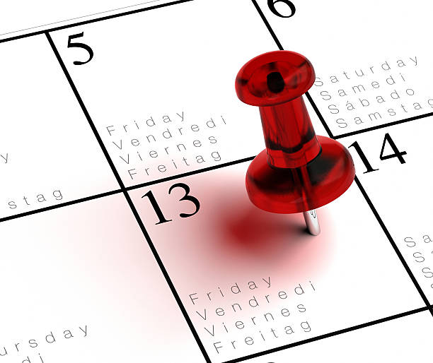 friday the 13 th stock photo