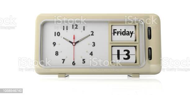 Friday the 13th date on old retro alarm clock white background 3d picture id1058546740?b=1&k=6&m=1058546740&s=612x612&h=lla3uu 9fmcshmv30rnz4vgrctbmi5k0n9gfo8qqjtc=