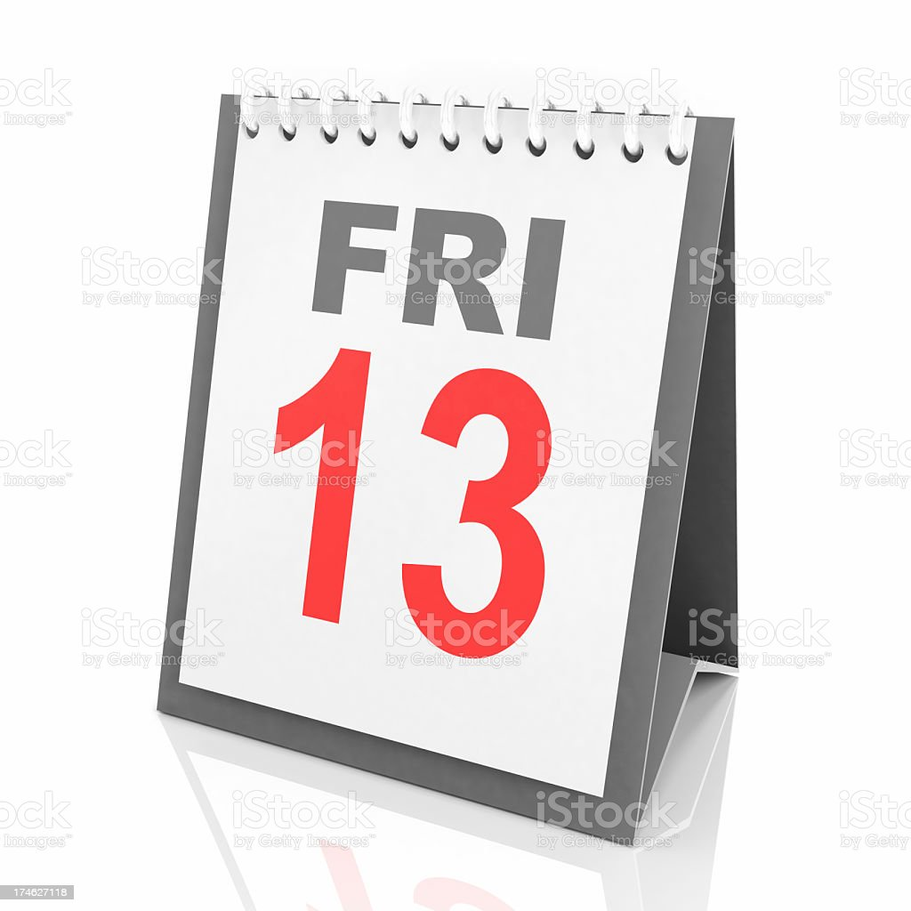 Friday the 13th royalty-free stock photo