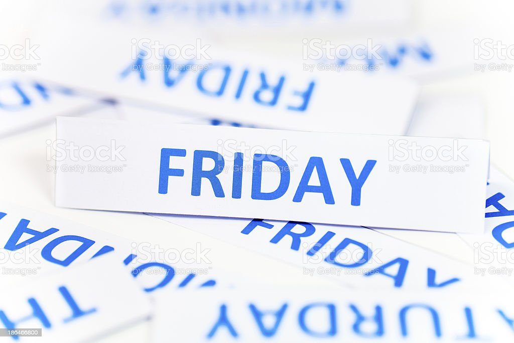 Friday word texture background royalty-free stock photo