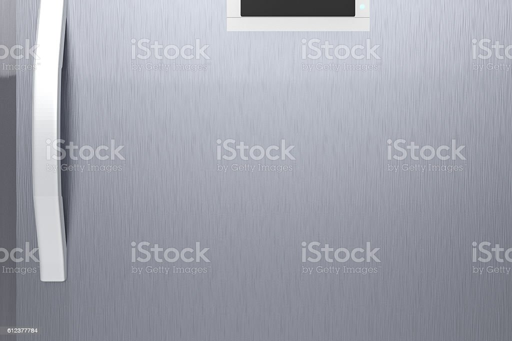 fridge door with handle stock photo