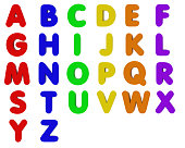 Fridge Magnet Alphabet - Capital Letters