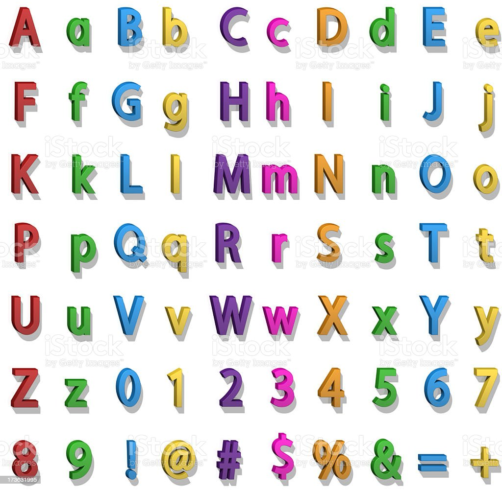 Fridge Magnet Alphabet royalty-free stock photo