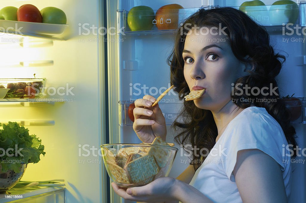 fridge with food royalty-free stock photo