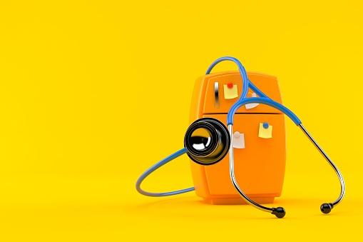 Kühlschrank Mit Stethoskop Stockfoto und mehr Bilder von Abnehmen