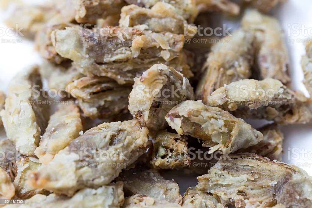 Fried artichokes stock photo