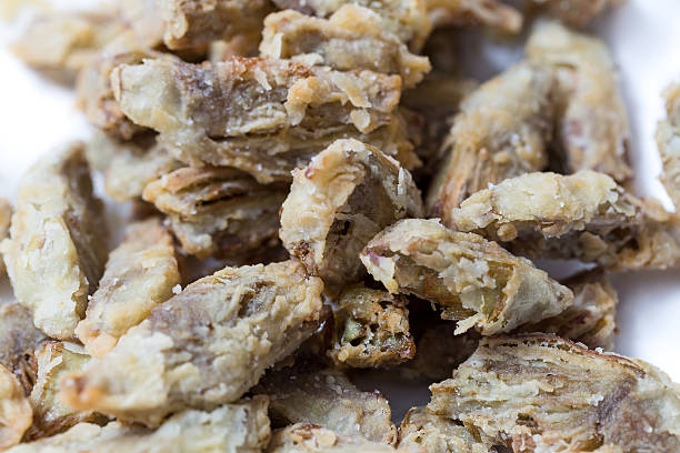 Fried artichokes stock photo