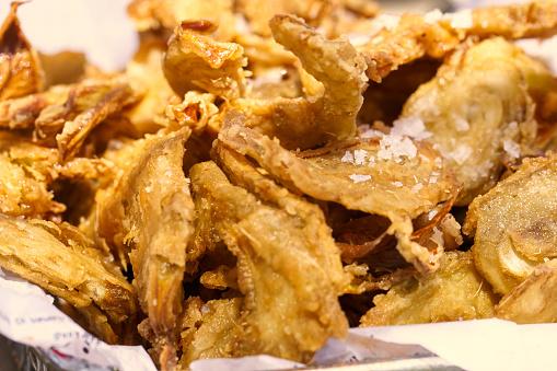 Fried artichokes tapa in a spanish coast bar