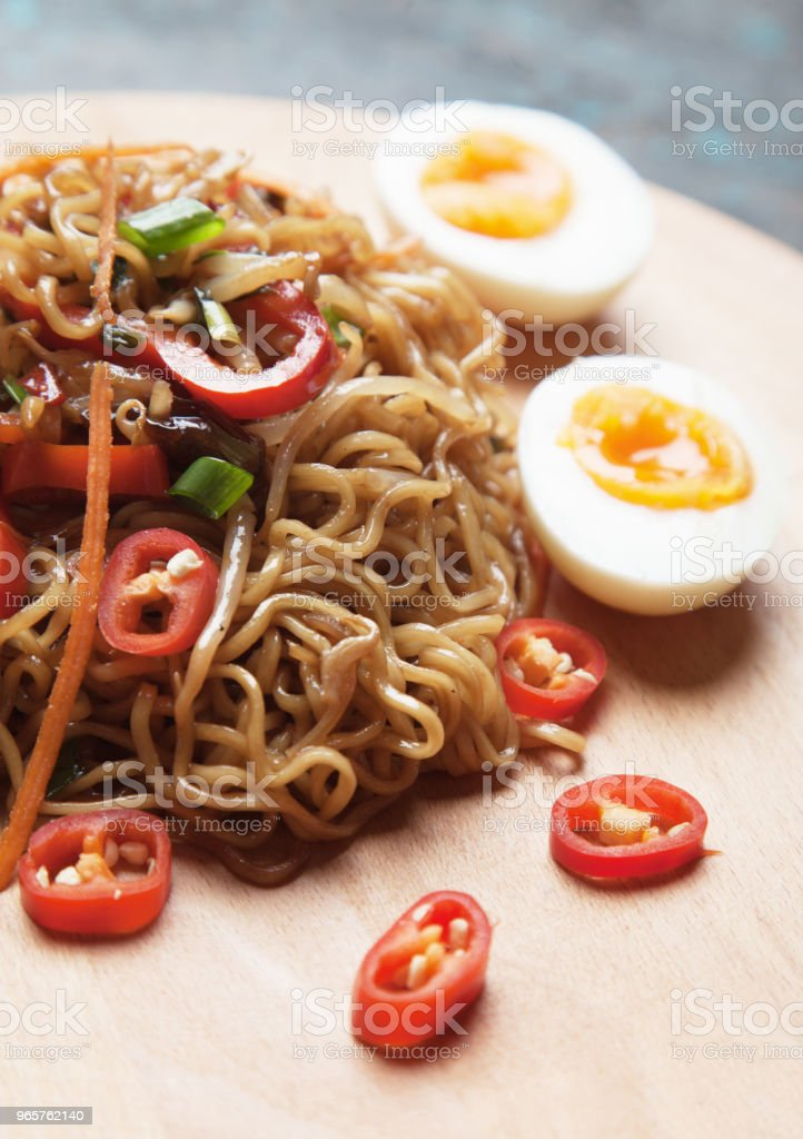 Fried asian instant noodles - Royalty-free Asia Stock Photo