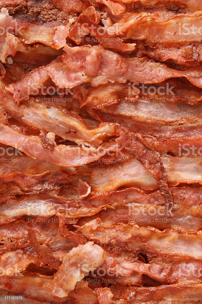 Sfondo di bacon fritto - foto stock