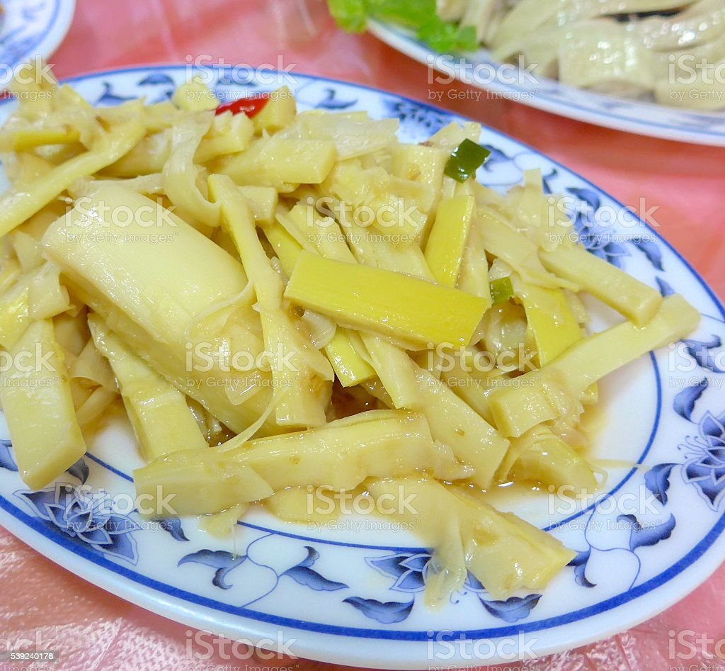 Fried bamboo shoots , a common snack in Taiwan. royalty-free stock photo