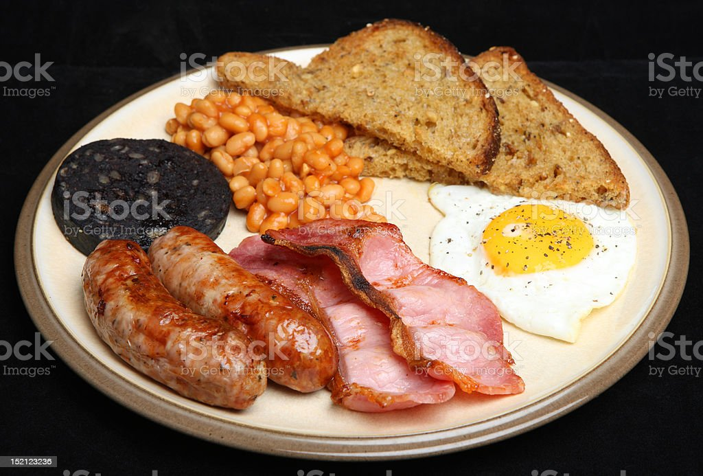 Fried Breakfast royalty-free stock photo