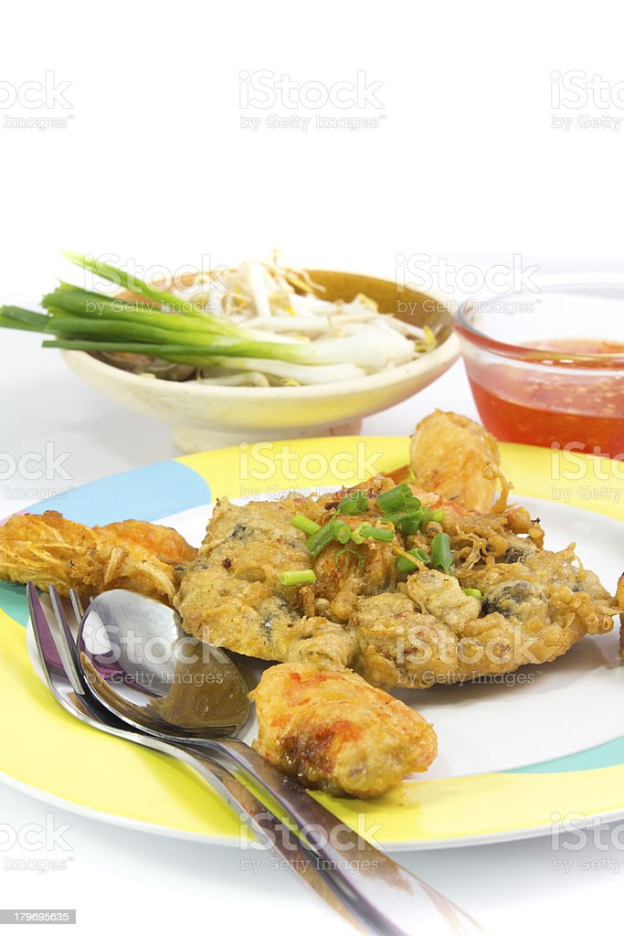 Fried Calamari  breaded served with  sauce royalty-free stock photo