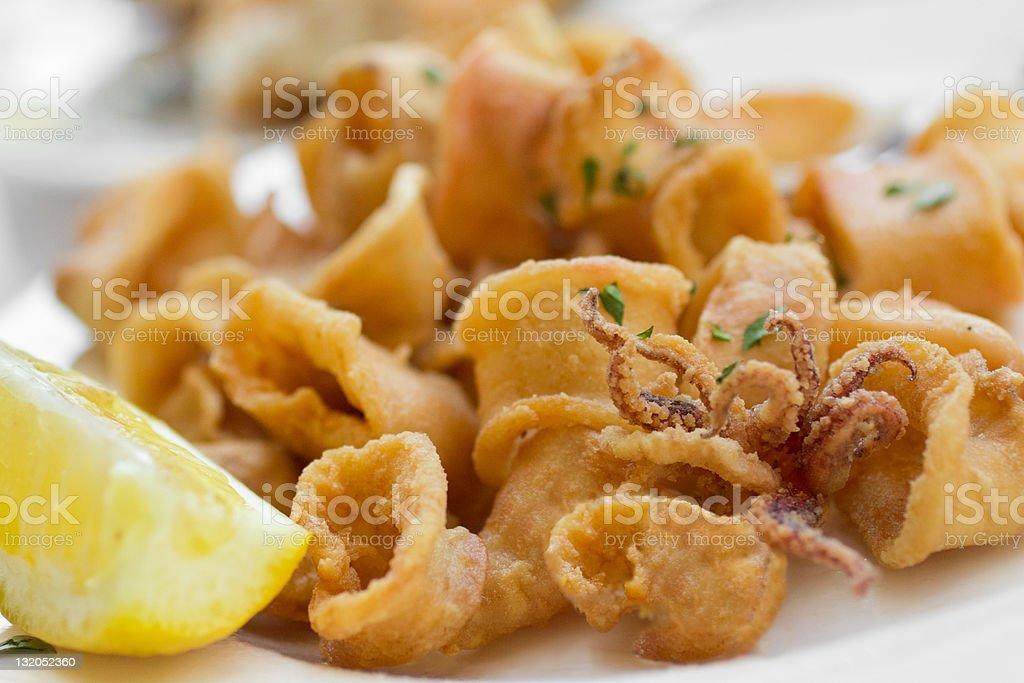Fried Calamari royalty-free stock photo