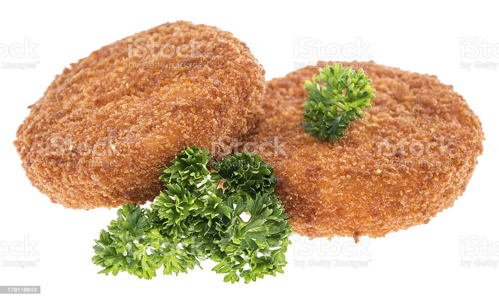 Fried Camenbert on white royalty-free stock photo