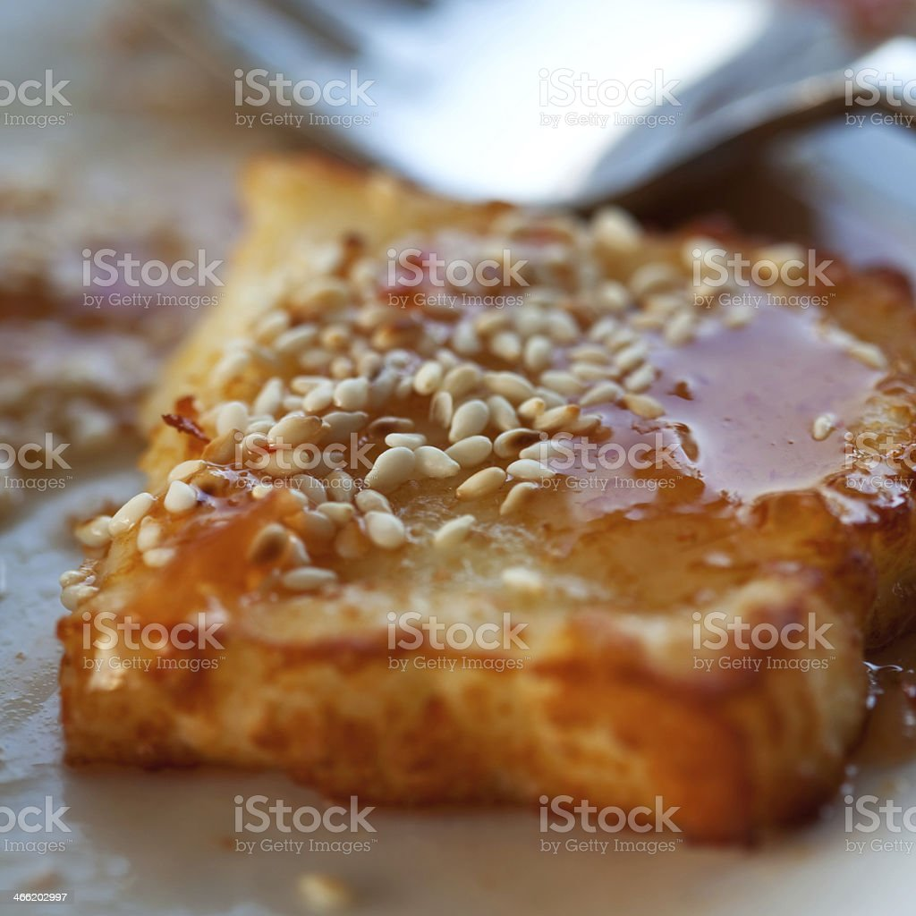 Fried cheese royalty-free stock photo