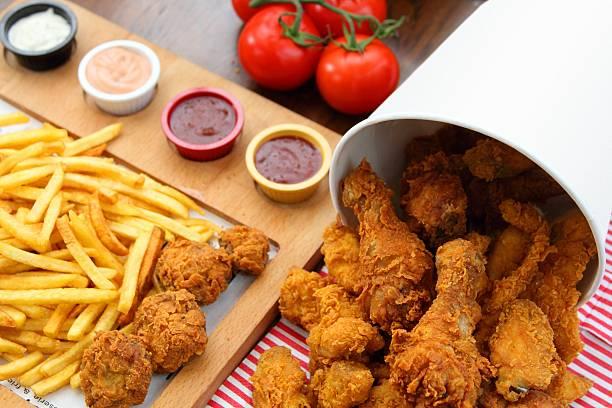 Fried Chicken Bucket Composition