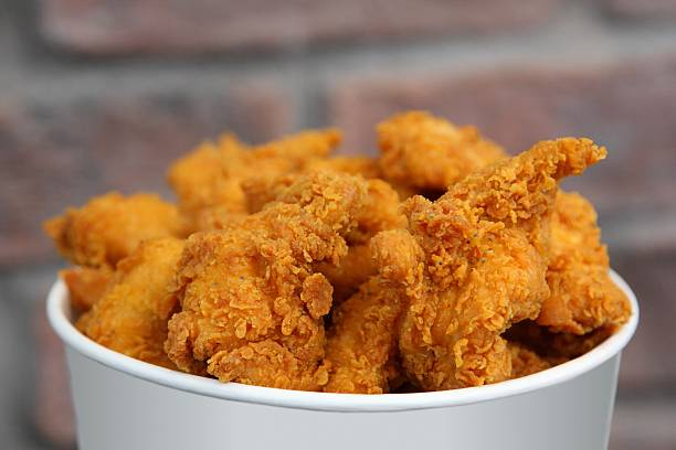 Fried Chicken Bucket stock photo