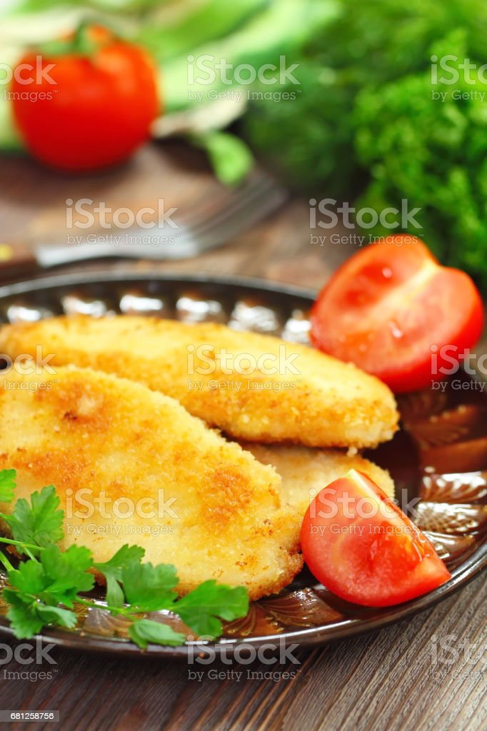 Fried chicken fillet royalty-free stock photo