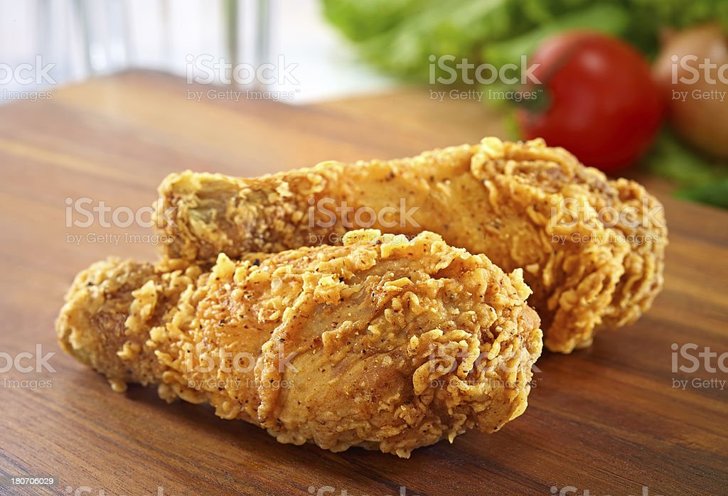 Fried chicken legs royalty-free stock photo