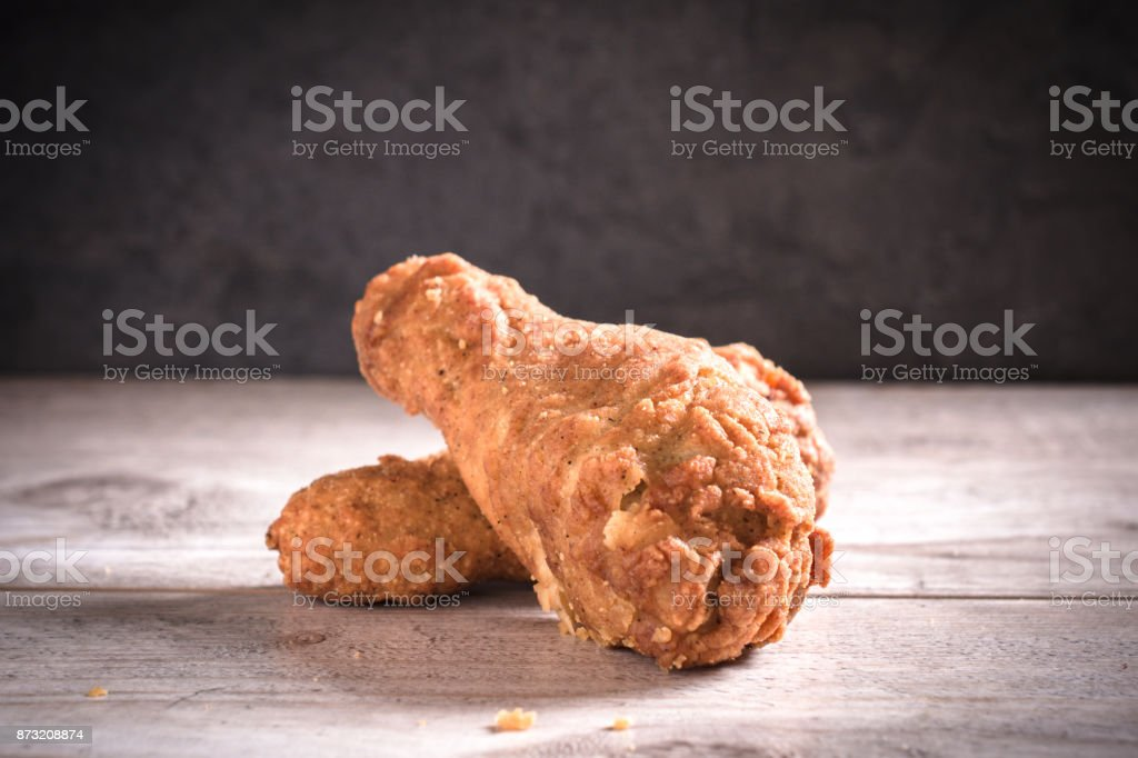 Fried chicken legs stock photo