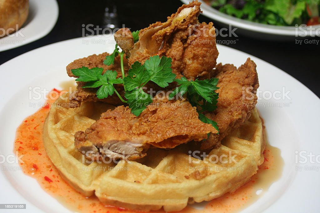 Fried Chicken on a Waffle royalty-free stock photo