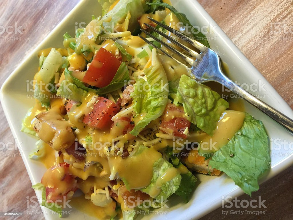 Fried Chicken Salad stock photo