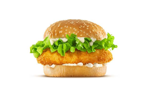 fried chicken sandwich - burger and chicken stok fotoğraflar ve resimler