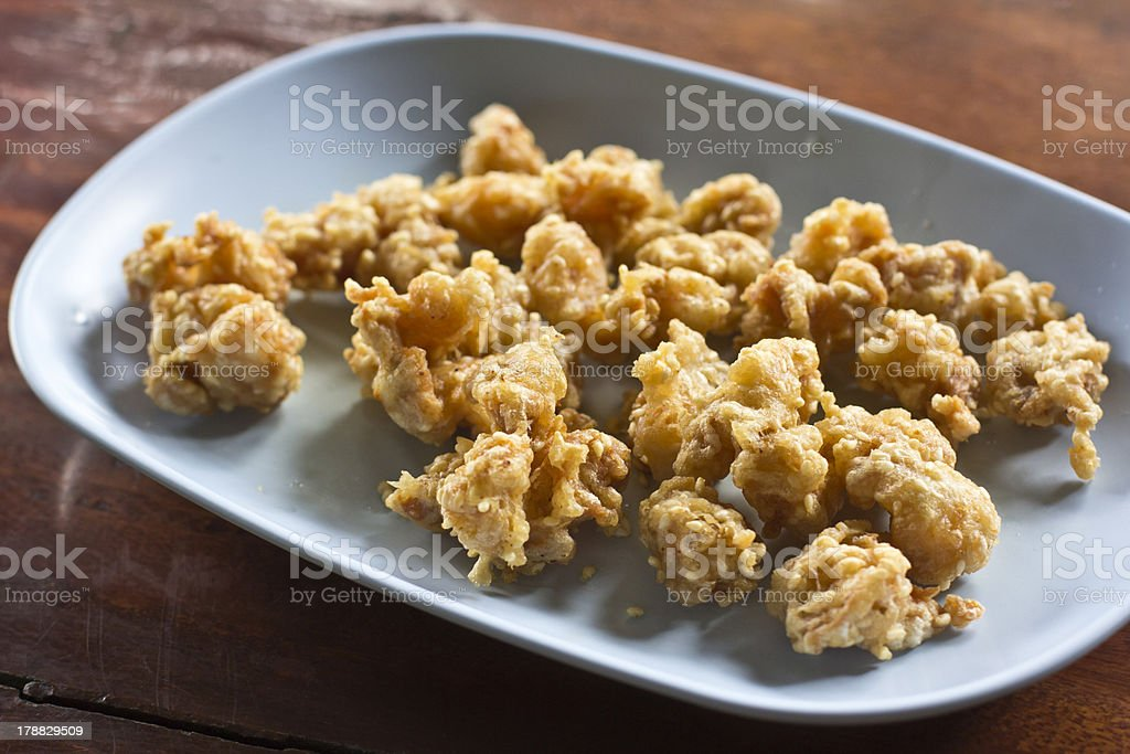 Fried chicken tendon royalty-free stock photo