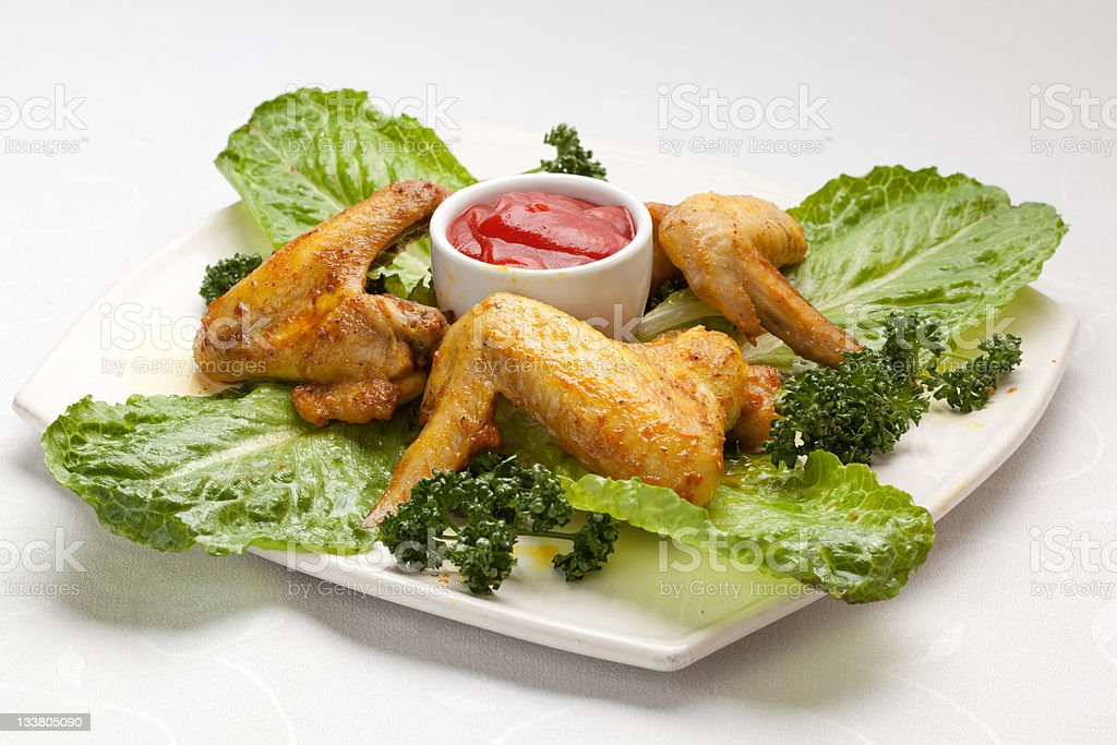 Fried chicken wings royalty-free stock photo