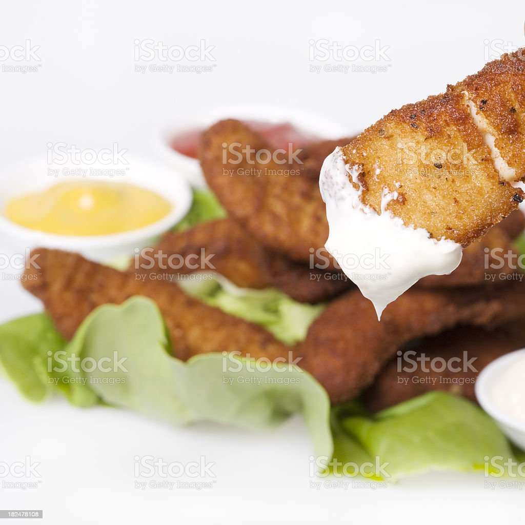fried chicken with mayonnaise royalty-free stock photo