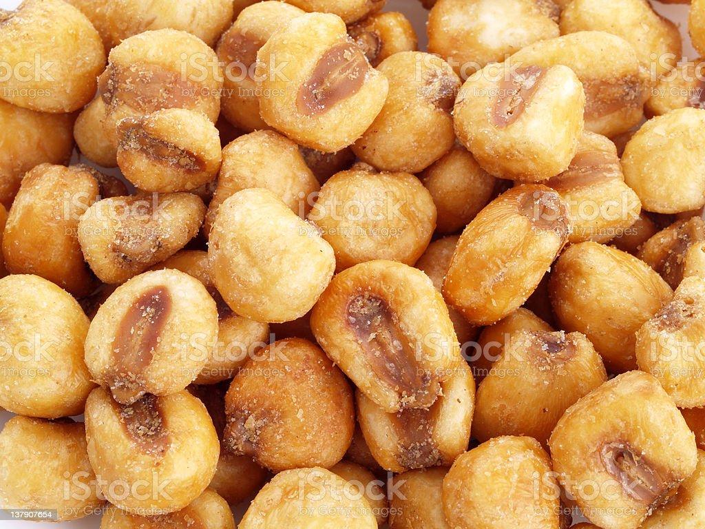 Fried corn seeds. stock photo