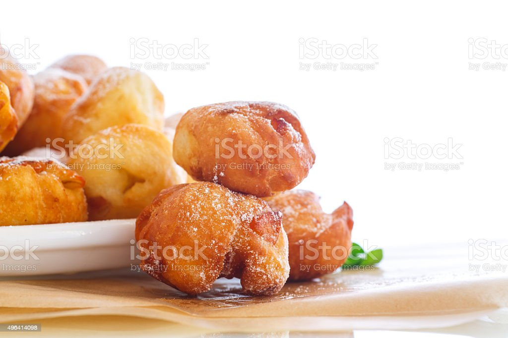 fried cottage cheese balls stock photo