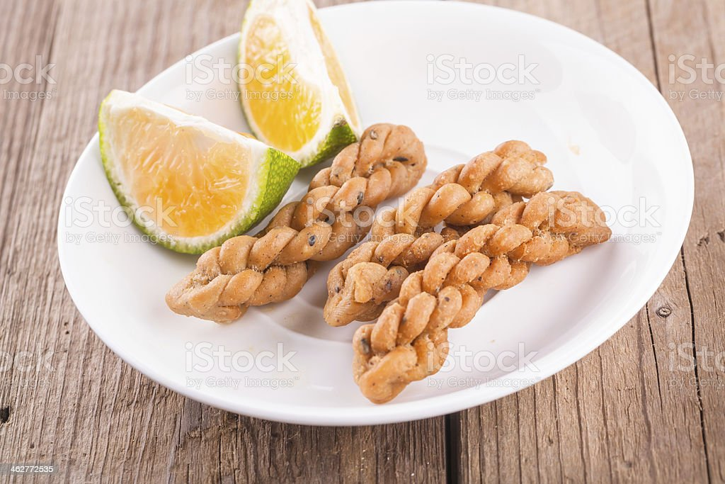 fried dough twist royalty-free stock photo