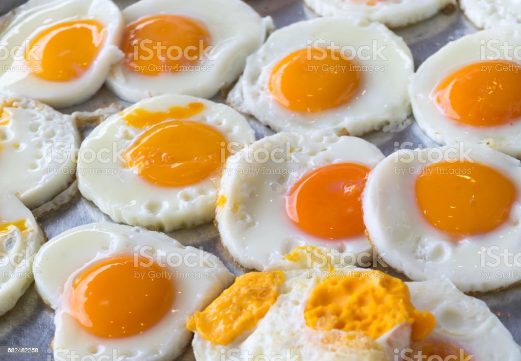 Fried egg Buffet food in the morning. royalty-free stock photo